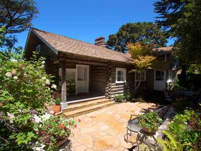 Carmel cottage rental - Entrance to Log Haven