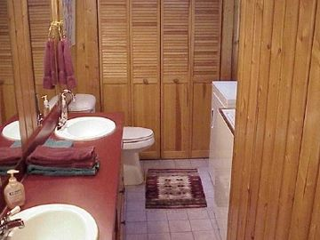 Downstairs Bathroom. includes shower, washer and dryer.