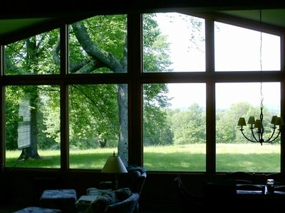View from the living room overlooking the valley