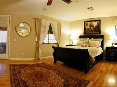 Master Bedroom with Attached Sitting Room and Private Balcony