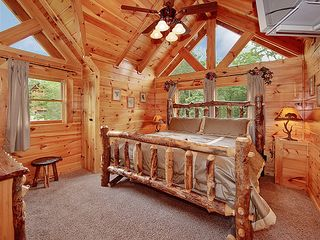Pigeon Forge cabin photo - One of three Master King suites with pillow top comfort. Relax in style