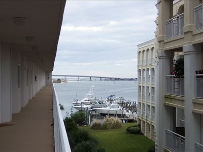 Nice View from the entrance into the unit and of the Alabama Point Bridge.