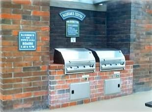 Our professional BBQ area featuring state of the art Gas BBQ's for your use.
