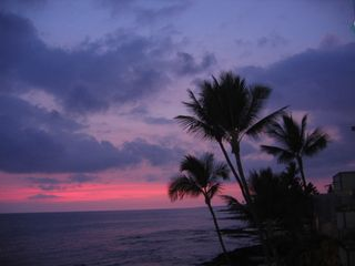 Kailua Kona condo photo - Sunset viewed from Banyan Tree 404