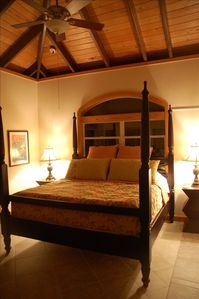 Master bedroom with King bed and air con