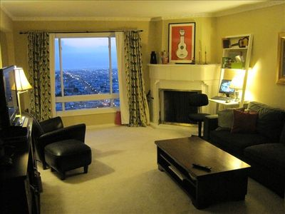 San Francisco house rental - Livingroom with Ocean View