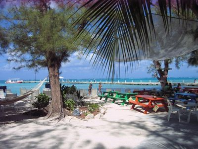 Grand Cayman condo rental - Rum Point Club - great food and drinks right next door!