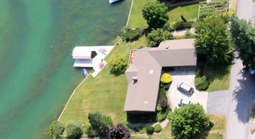 Aerial View of Lake House