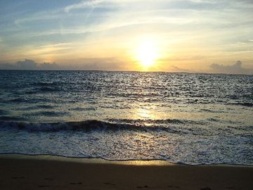 Rincon villa rental - Another amazing sunset at Corcega Beach (just steps from the town home).