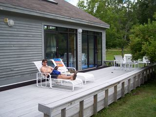 Carrabassett Valley condo photo - Deck outside of the Pool