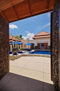 Step into Villa Casuarina and shed your everyday cares at the entrance...