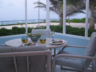 There is no better venue for dinner than the seaside lanai!