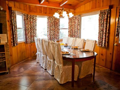 Idyllwild lodge rental - Elegant dining for intimate dinner parties or family gatherings