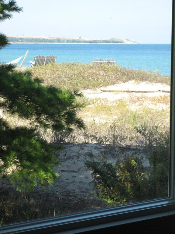 View of Sleeping Bear Point from large 3rd bedroom/den with queen size sofa bed.
