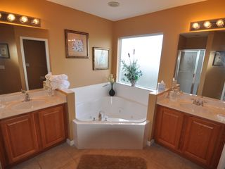 Emerald Island house photo - Master Bathroom 2 - 2 sinks, garden tub, separate shower