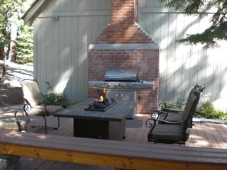 Carnelian Bay house photo - Bar-b-que and Fire Pit Deck