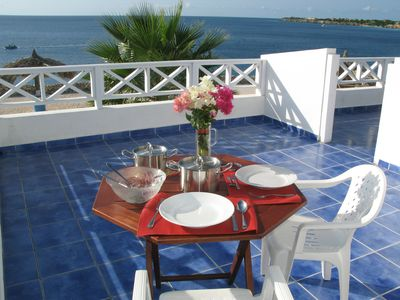 Curacao condo rental - Romantic dinner overlooking the azure ocean from your own private balcony?