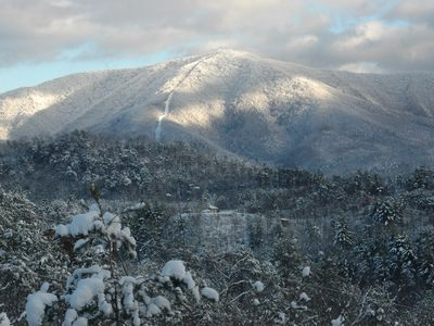 Taken from the deck, Cove Mountain after a snowfall, photo taken by B. Morris