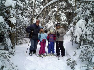 Mount Holly bungalow photo - Family fun on property 4 pair of snow shoes provided lifetime memories!!