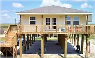 Front of Bon Ton Roulet Beach House (104 Stanek, Surfside, TX)