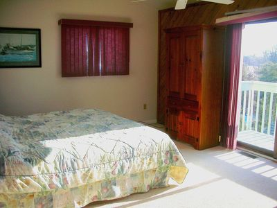 Broadkill Beach house rental - Top Floor Master Bedroom Suite with Private Deck