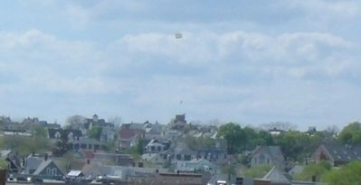 Prospect Hill Tower were the 1st American flag was flown? From roof deck