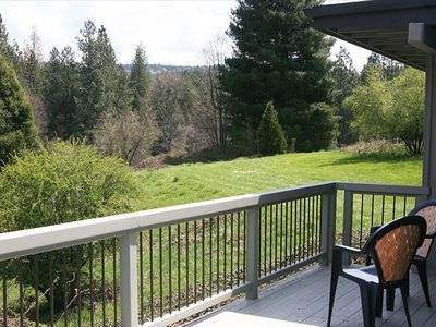 View from back deck - Nevada City Vacation House near Hiking and Biking