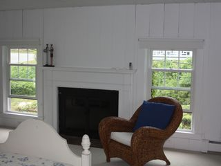 Gloucester - Annisquam house photo - Gas fireplace in the back bedroom on the second floor.