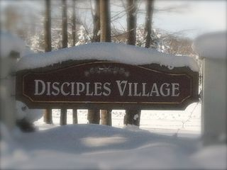 The Disciples Village sign welcomes you