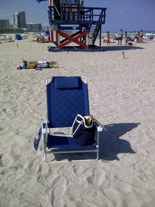 3 beach chairs are provided with the unit and beach towels