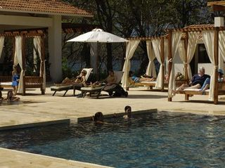 Playa Conchal villa photo - Comfortable lounging at the Beach Club at Reserva Conchal Golf Resort