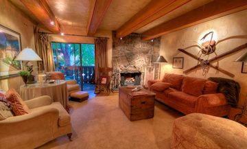 Villa Cortina condo rental - European Elegance! Wood burning fireplace, Austrian hardwood floors, balcony!