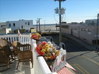 Wildwood condo photo - Front deck beach/bdwk views