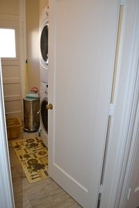 Laundry Room with New Washer/Dryer in flat.
