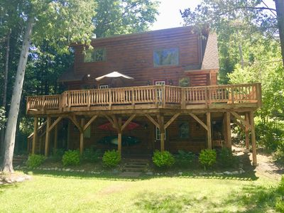 Sidell's Sturgeon River Log Cabin - Kayaks, Fly Fishing, Sauna, Hiking trails