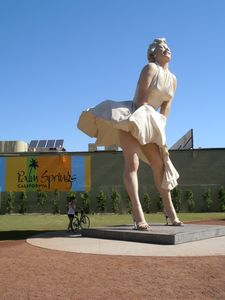 She's b-a-a-c-c-k, and in a BIG way! 26 ft bronze sculpture downtown village.