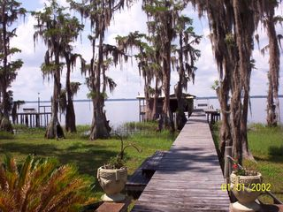 Santa Fe Lake house photo - nice wide dock to boathouse and covered porch