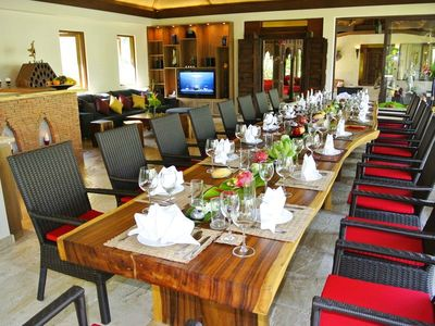 Laem Sor beach villa rental - Dining Lounge