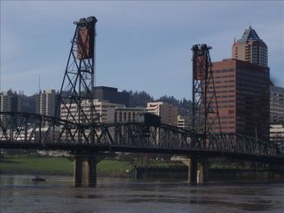 Portland apartment photo - The Hawthorne Bridge, towards downtown Portland