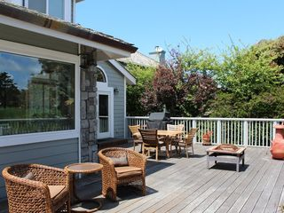 Half Moon Bay estate photo - Rear deck. Great for entertaining!