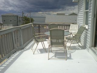 front deck seating - Beach Haven house vacation rental photo