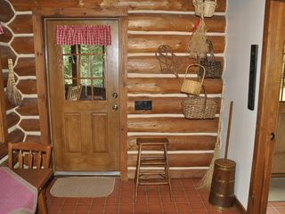 Piseco Lake lodge photo - Entrance to Screened Porch and side door.