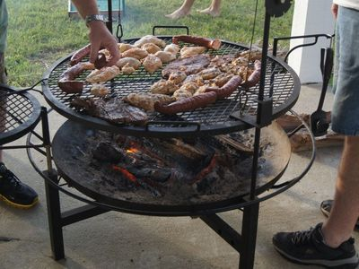 Galveston house rental - Awesome grill/fire pit