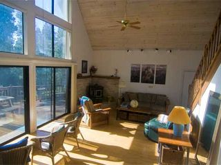 Mariposa chalet photo - The Great Room - 12 great windows to .. mountain .. forest .. stars. Dance floor