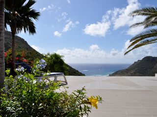 St Barthelemy villa photo - The sea view from the terrace