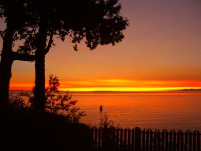 One of the Amazing Sunsets from our Birch Bay Home
