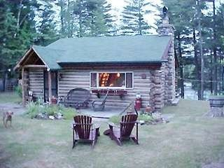Malone cabin rental - Adirondack waterfront log cabin - Mt. View Lake