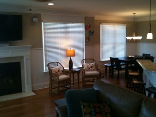 Wrightsville Beach condo photo - LED TV with gas fireplace to kick back and enjoy the view!