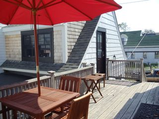 Provincetown cottage photo - Deck with seating