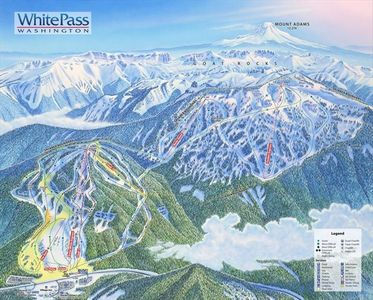 2010-11 New Trail Map at White Pass Ski Resort-2 new lifts-Double Ski Acreage
